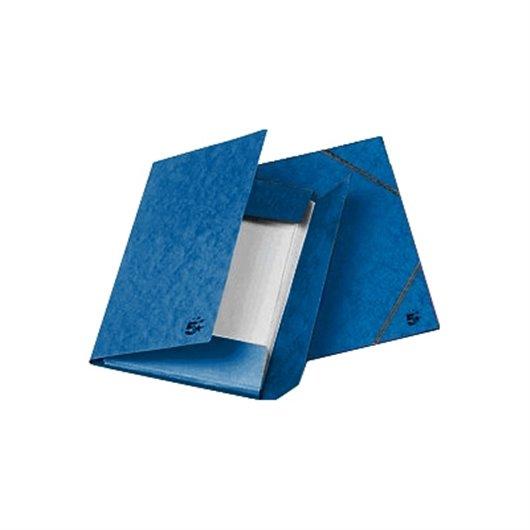 Chemise 3 rabats en carton 5/10e à élastique - Orange