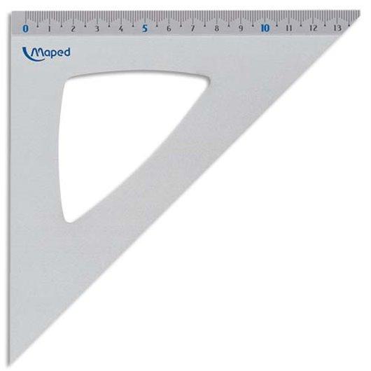 MAPED équerre 45° 21cm aluminium anodisé