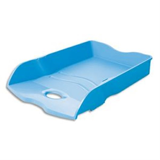 Corbeille à courrier Loop en polypropylène Bleu. Dim. L25,9 x H6,3 x P35,1 cm