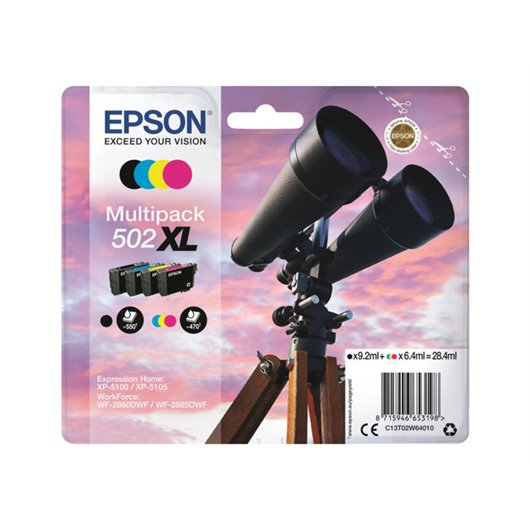 Epson T0502 XL - Jumelles - MultiPack de 4 Cartouches d'encre Epson