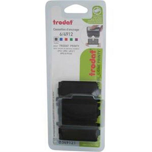 Blister 3 recharges 6/4912 pour appareils 4912/4952/4992 Xprint. Noir