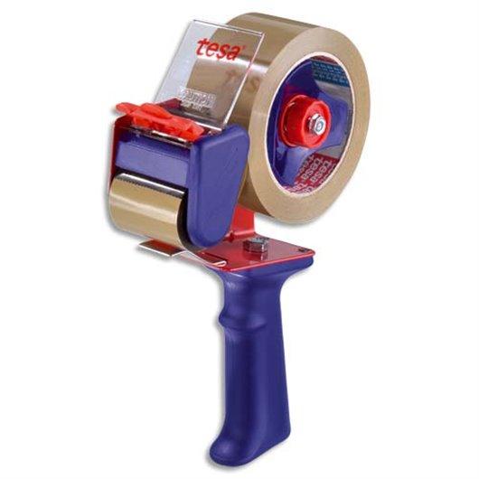 Dévidoir métal avec frein corps en plastique réglable pour rubans adhésifs de 66 et 100 mètres