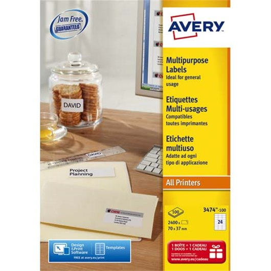 AVE B/2400 ETQ MULTIUSAG 70X37 3474-100