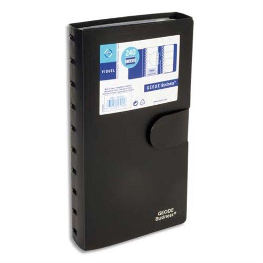 capacit/é 100 cartes L9,5 x H6 x P3 cm transparent Lot de 2 Bo/îtes pour cartes de visite plastique rigide