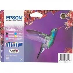 Epson T0807 - Colibri - MultiPack de 6 Cartouches d'encre Epson