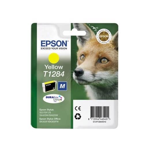 Epson T1284 -Epson  Renard - Jaune - Cartouche Epson