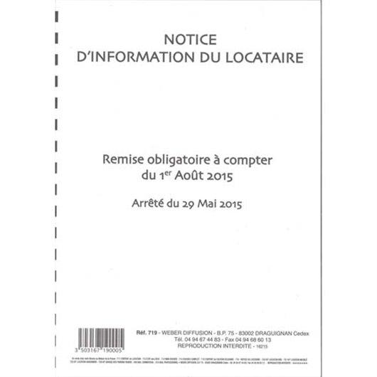 WDF NOTICE INFORMATION LOCATAIRE 719N