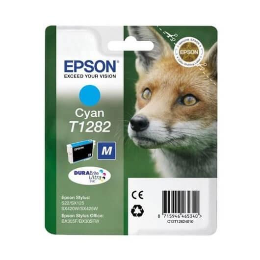 Epson T1282 -Epson  Renard - Cyan - Cartouche Epson