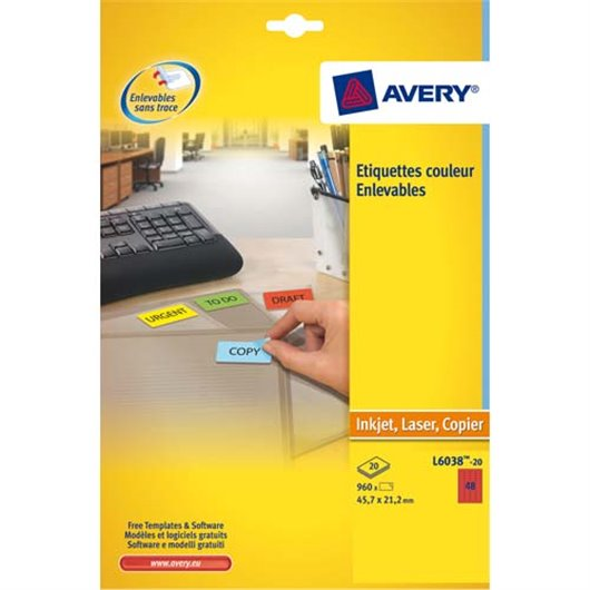 AVE B/960 ETIQLAS 45.7X21.2 RGE L6038 20