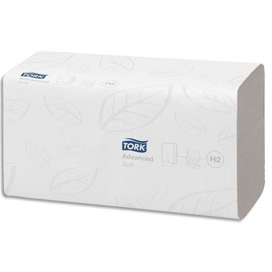 Tork 129089 Essuie-mains Advanced interfoli/és d/élitable lot de 21 Blanc Xpress H2 2 plis