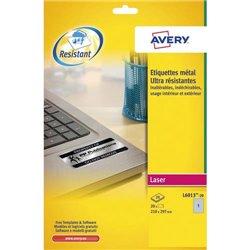 AVE B/20 ETIQ METAL 210X297 L6013-20