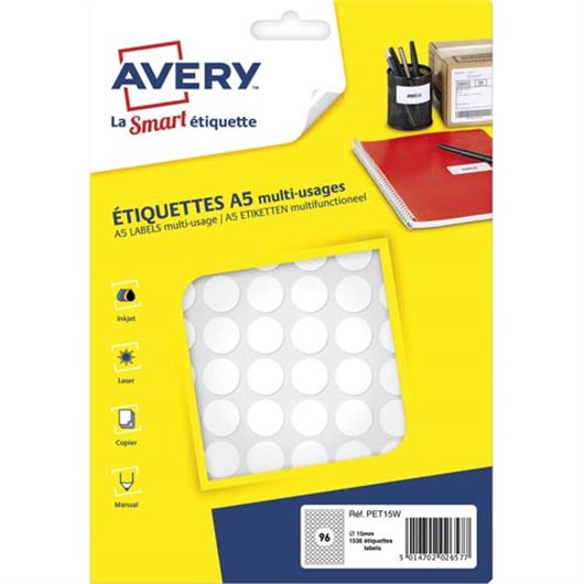 AVE S/1536 PASTILLES Ø15MM BLC PET15W