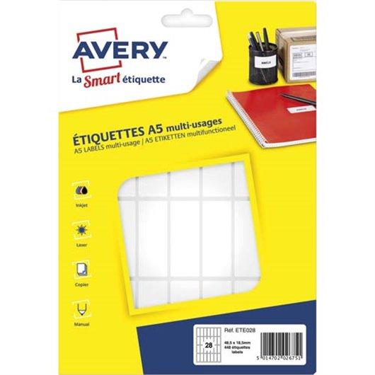 AVE S/448 ETIQ MULTI A5 48.5X18.5 ETE028