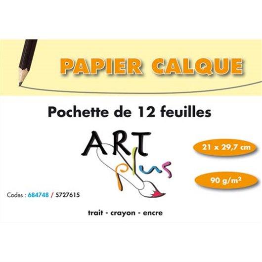 ART P/12F PAP CALQUE 90G A4 684748SPICEC