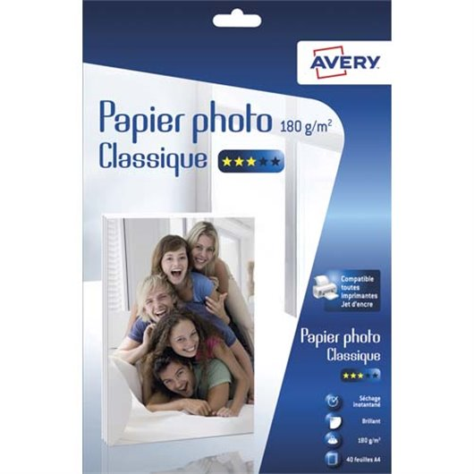 AVE B/40 PAP PHOTO BRILL A4 180G 2741-40