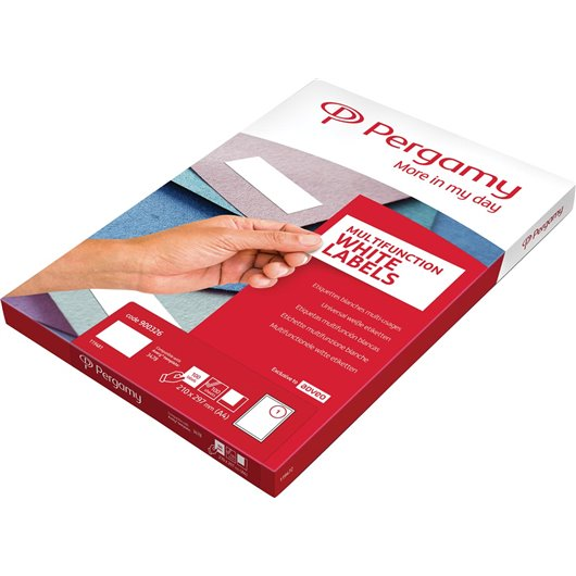 PERGAMY Boite 2400 étiquettes 70x36mm multi-usage en planche A4. Coins carrés
