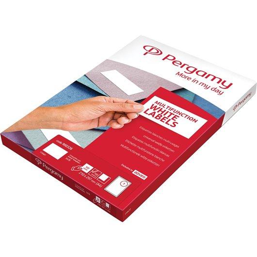 Boite 12000 étiquettes 70x37mm multi-usage en planche A4. Coins carrés