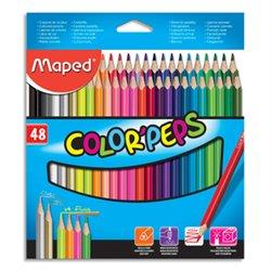 Pochette 48 crayons de couleur COLOR'PEPS