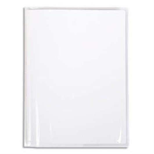 Protège-cahier Cristal 22/100° 24x32 avec porte-étiquette. Transparent