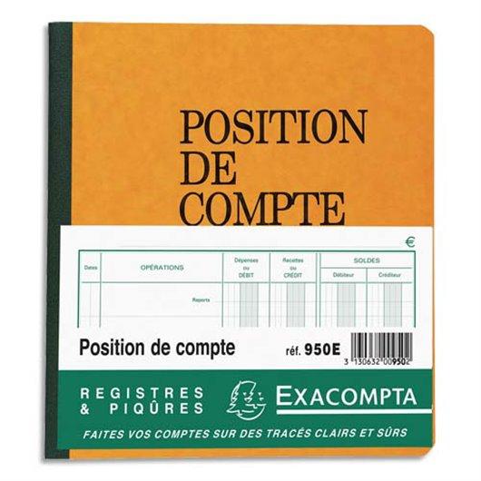 Piqûre 21x19cm - Position de compte 80 pages folioté