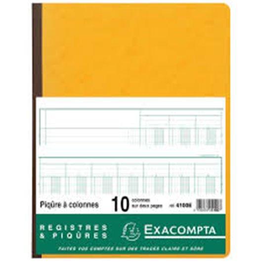 Piqûre 32x25cm 10 colonnes sur 2 pages 31 lignes 80 pages