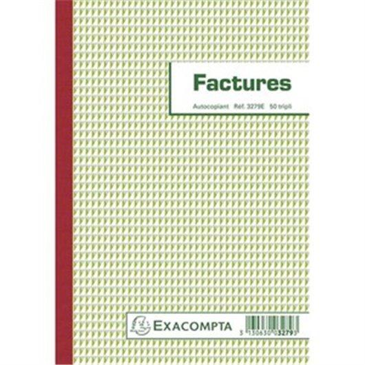 Manifold Factures 29.7x21cm - 50 feuillets dupli autocopiants