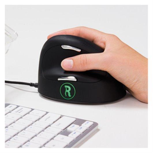 Souris ergonomique.logiciel anti-rsi.S/M. droite. filaire - R GO TOOLS R-go HE mouse break