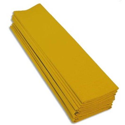 Paquet de 10 feuilles de crépon 40% 2x0.5m jaune