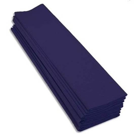 Paquet 10 feuilles crépon M40 2X0.50m bleu marine
