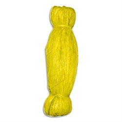 Bobine de 50g de raphia végétal coloris Jaune. longueur non standardisée de 1 à 1.20m