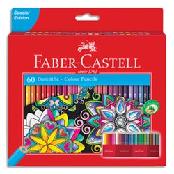 Etui boite château de 60 crayons de couleur