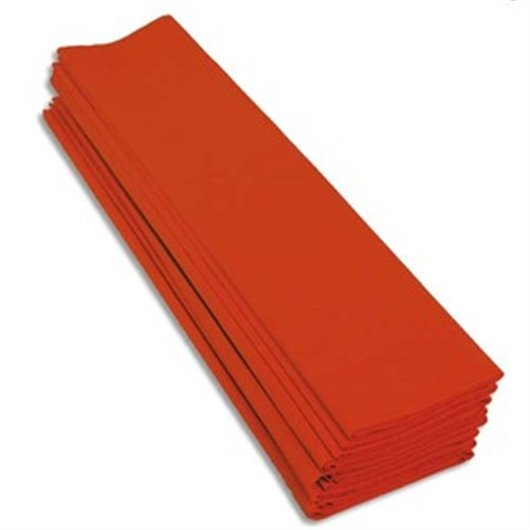 Paquet de 10 feuilles de crépon 40% 2x0.5m orange