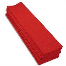 Paquet de 10 feuilles crépon M40 2x0.50m rouge