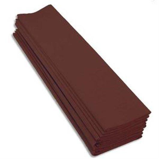 Paquet 10 feuilles crépon M40 2x050m chocolat