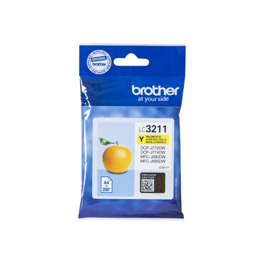 Cartouche d'encre Brother LC-3211 Jaune| Direct Cartouche
