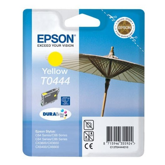T0444 Cartouche Jet d'Encre Jaune Epson Parasol