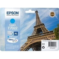 Epson T7022 XL - Tour Eiffel - Cyan - Cartouche d'encre Epson