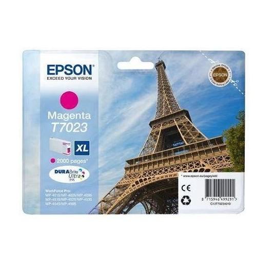T7022 XL Cartouche Jet d'Encre Cyan Epson Eiffel Tower