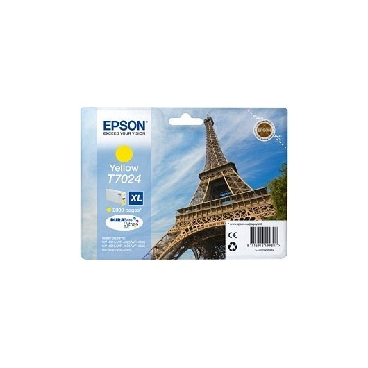 T7024 XL Cartouche Jet d'Encre Jaune Epson Eiffel Tower
