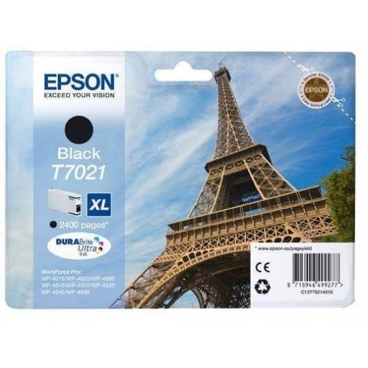 T7021 XL Cartouche Jet d'Encre Noir Epson Eiffel Tower