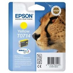 Epson T0714 - Guepard - Jaune - Cartouche d'encre Epson