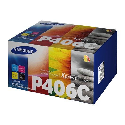 Samsung CLT-P406C - Noir / Couleurs - Pack 4 Toners Samsung
