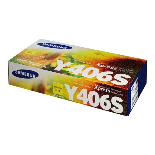 Samsung CLT-Y406S - Jaune - Toner Samsung