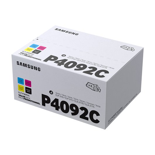 Samsung CLT-P4092C Pack 4 Toners Cyan, Magenta, Jaune et Noir Samsung ( Lot de 4)