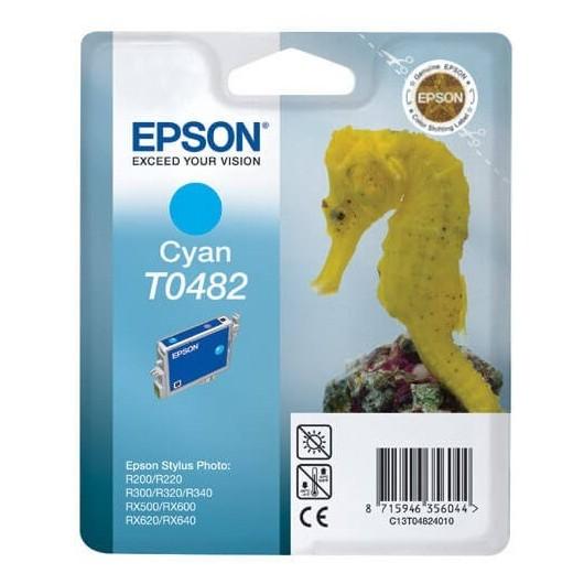 T0482 Cyan Cartouche Jet d'Encre Epson Hyppocampe