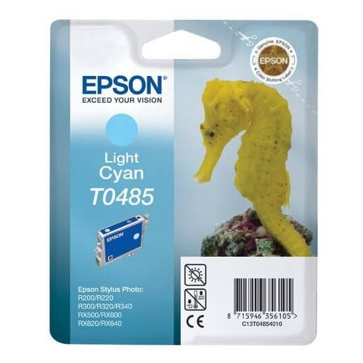 T0485 Cyan Clair Cartouche Jet d'Encre Epson Hyppocampe