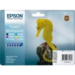Epson T0487 - Hyppocampe - MultiPack de 6 Cartouches d'encre Epson