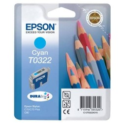 Epson T0322 - Crayons - Cyan - Cartouche d'encre Epson