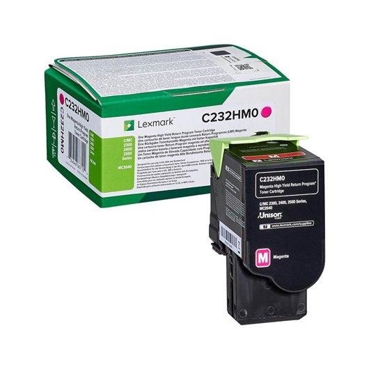 LEXMARK C232HM0 Magenta High Yield Return Program Toner Cartridge