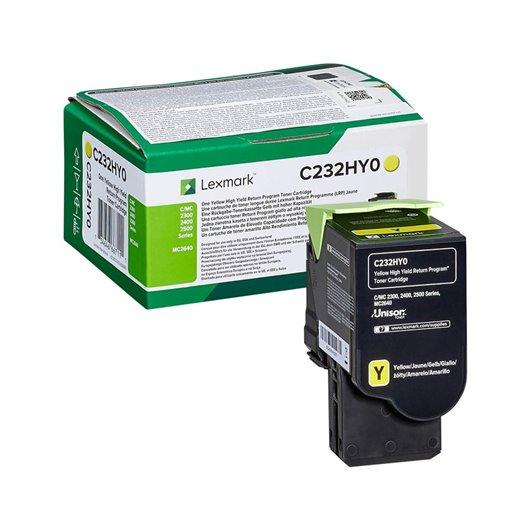 LEXMARK C232HY0 Yellow High Yield Return Program Toner Cartridge
